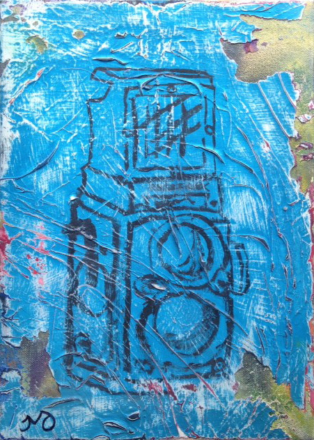 camera 1   oil & acrylic on canvas   9 x 13 inches   SOLD