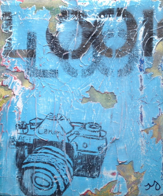 camera 3   oil & acrylic on canvas   10 x 11.5 inches   SOLD