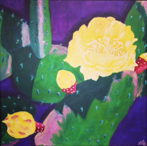 Prickly Pear 2   oil on canvas   24.5 x 25 inches   SOLD