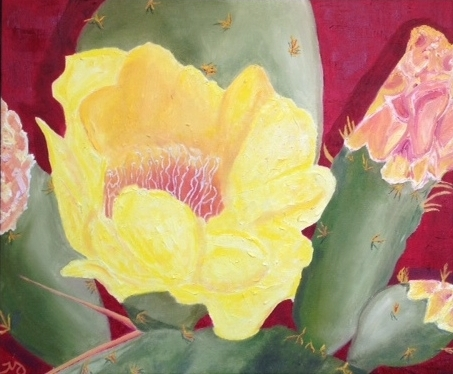 Prickly Pear   oil on canvas   21 x 25 inches   SOLD