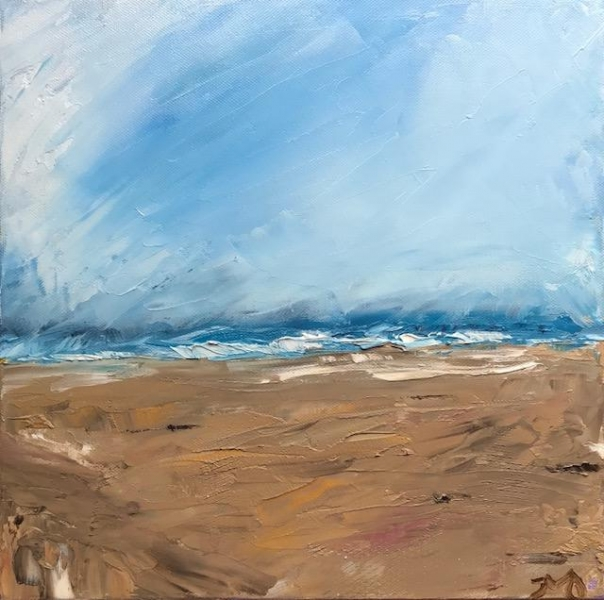 beachfront | oil on canvas | 12 x 12 inches | SOLD