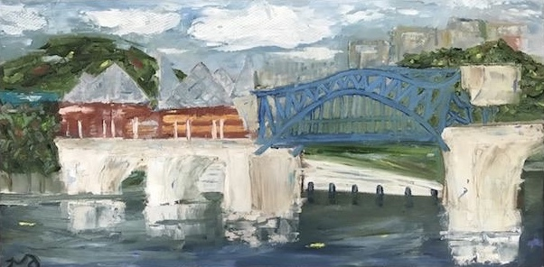 Market Street Bridge II | oil on canvas | 12 x 24 inches | SOLD