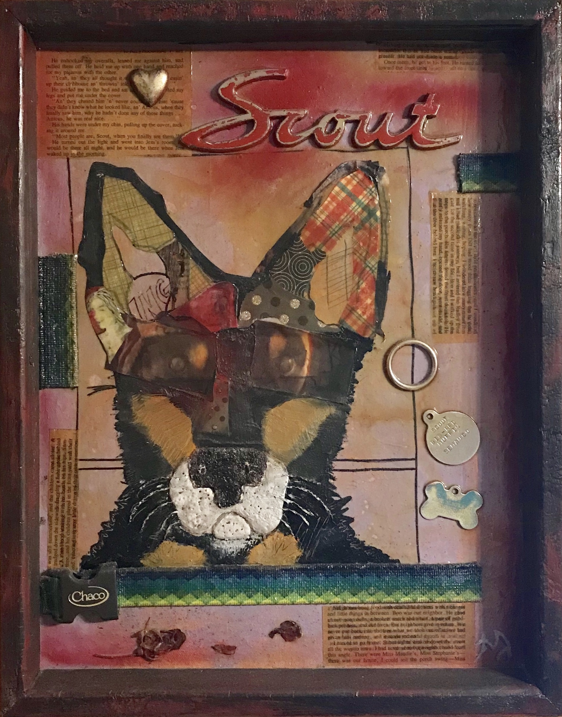 Scout   mixed media on canvas   12 x 16 inches   SOLD