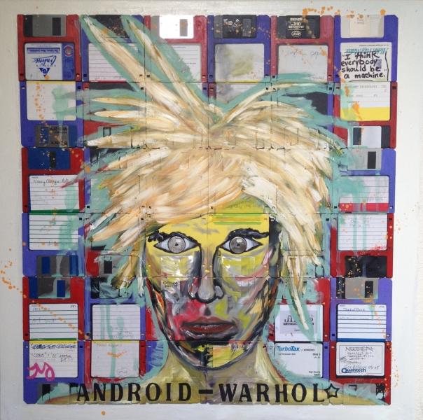 Android warhol, 24x24, starting bid $375 -