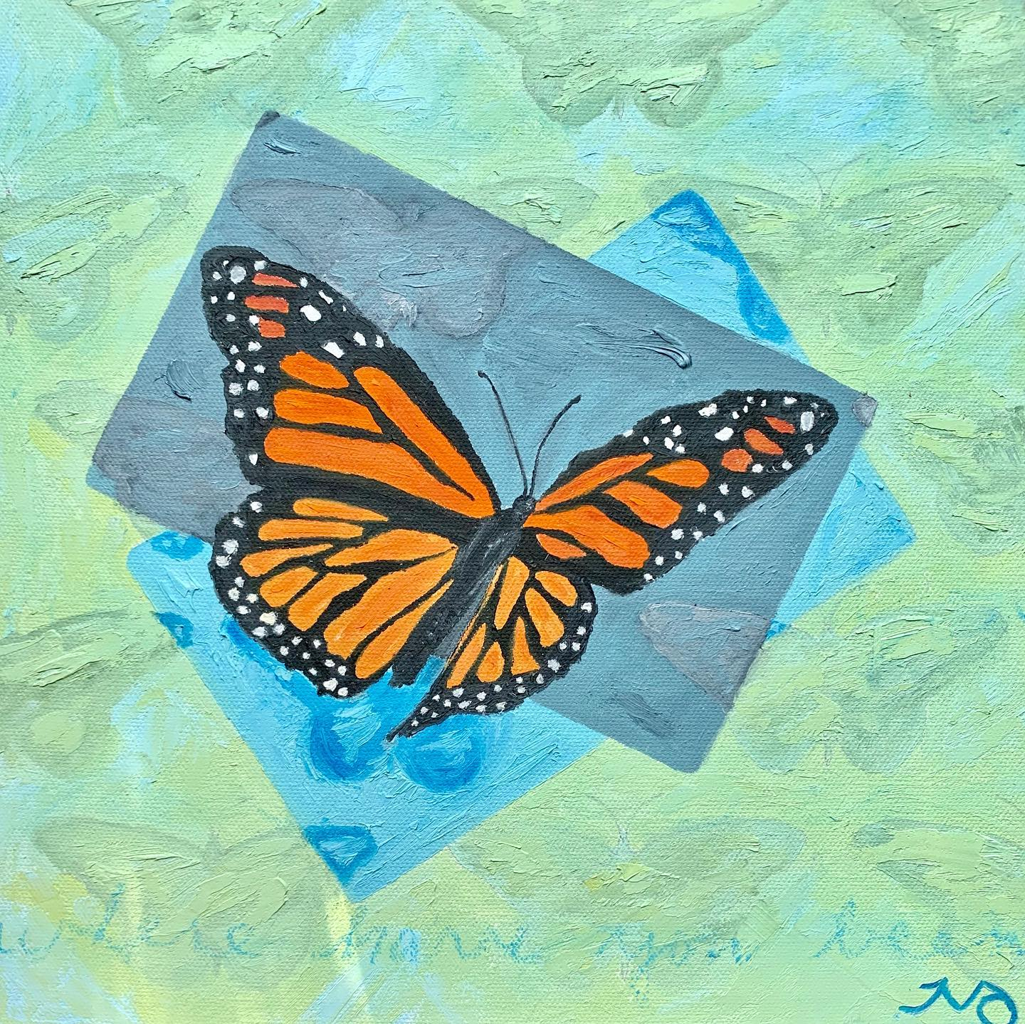 Monarch   oil on canvas   12 x 12 inches   SOLD