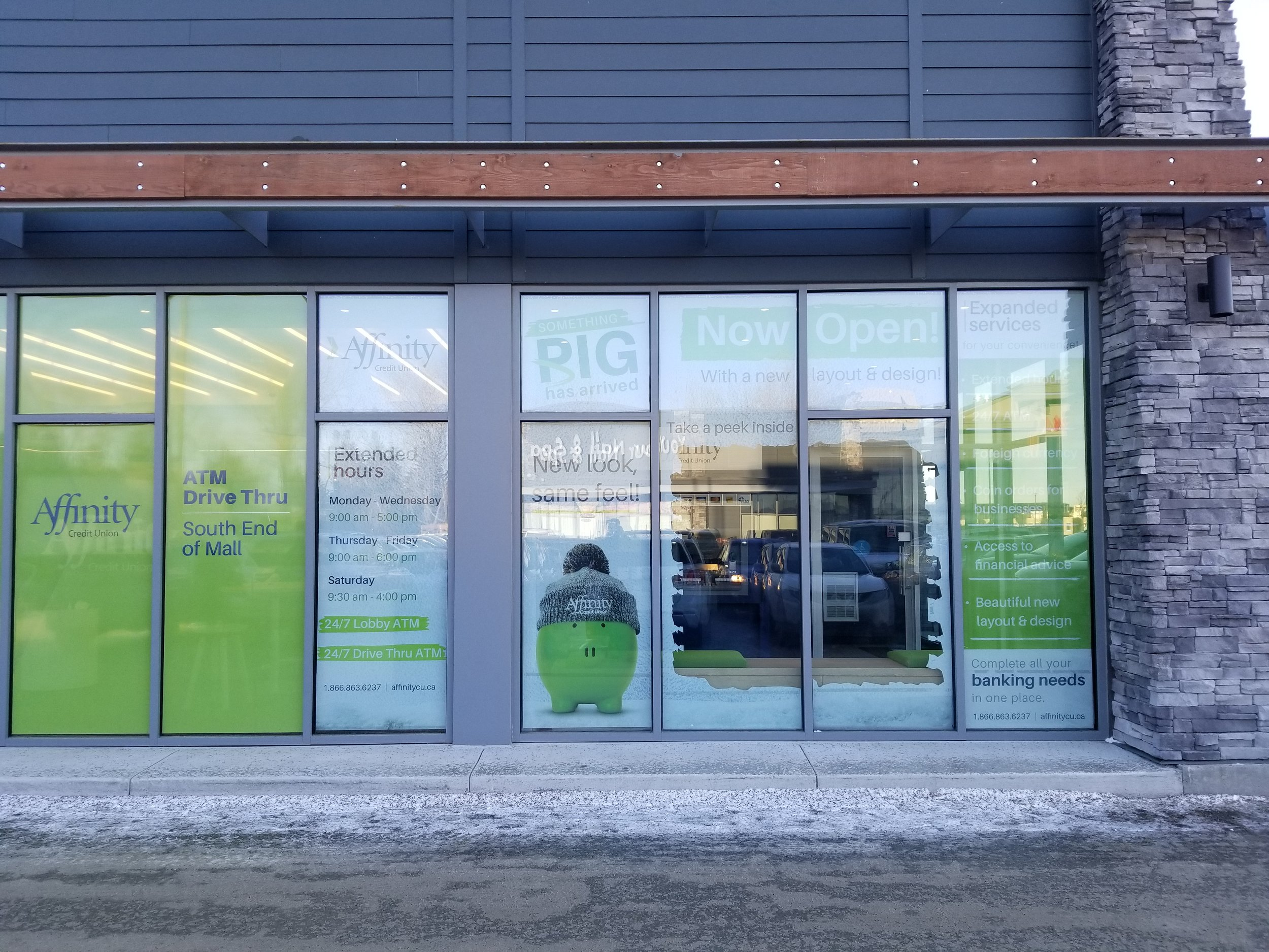 Affinity Credit Union, Stonebridge Saskatoon (Interior Window Perf)