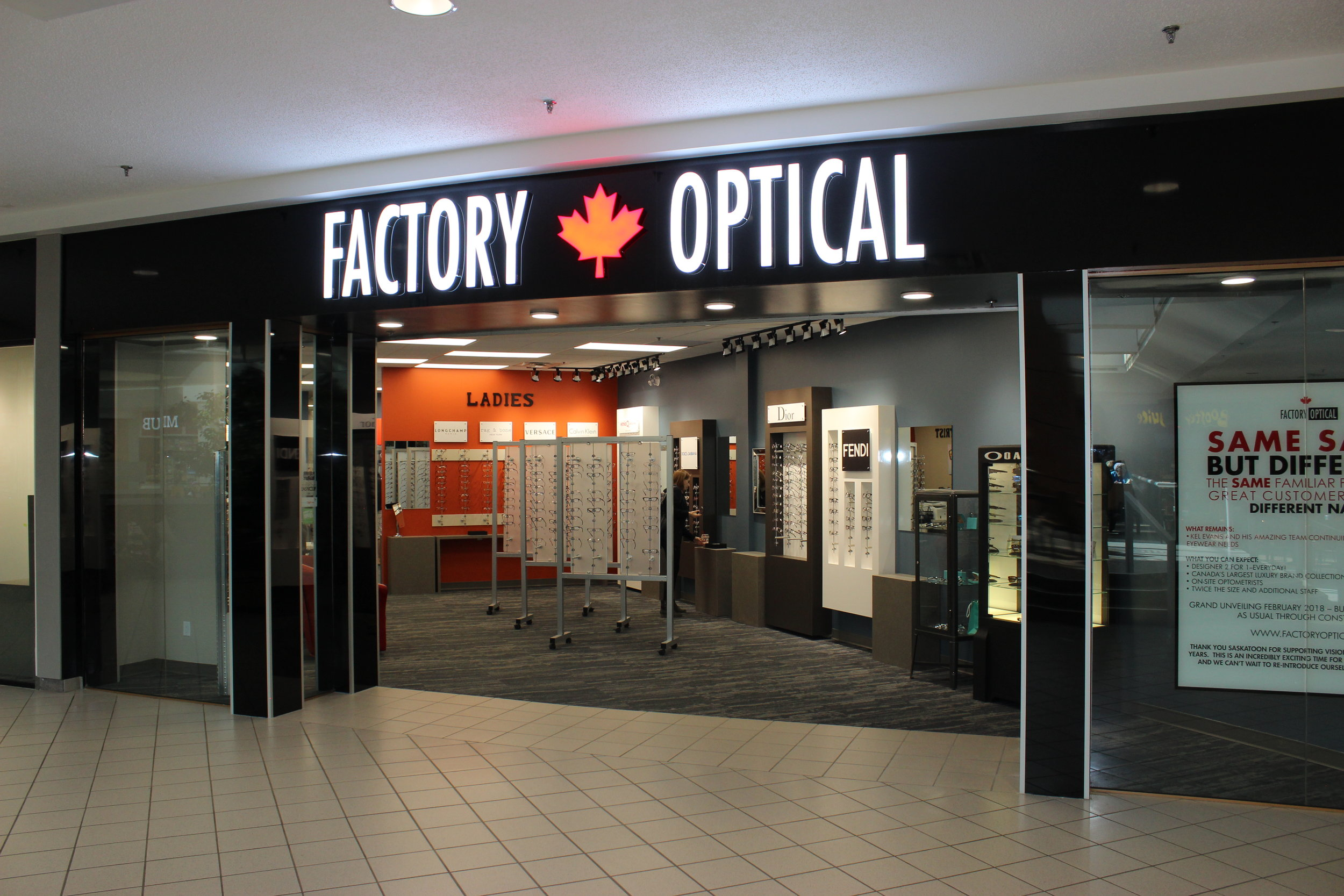 Factory Optical, Lawson Mall Saskatoon