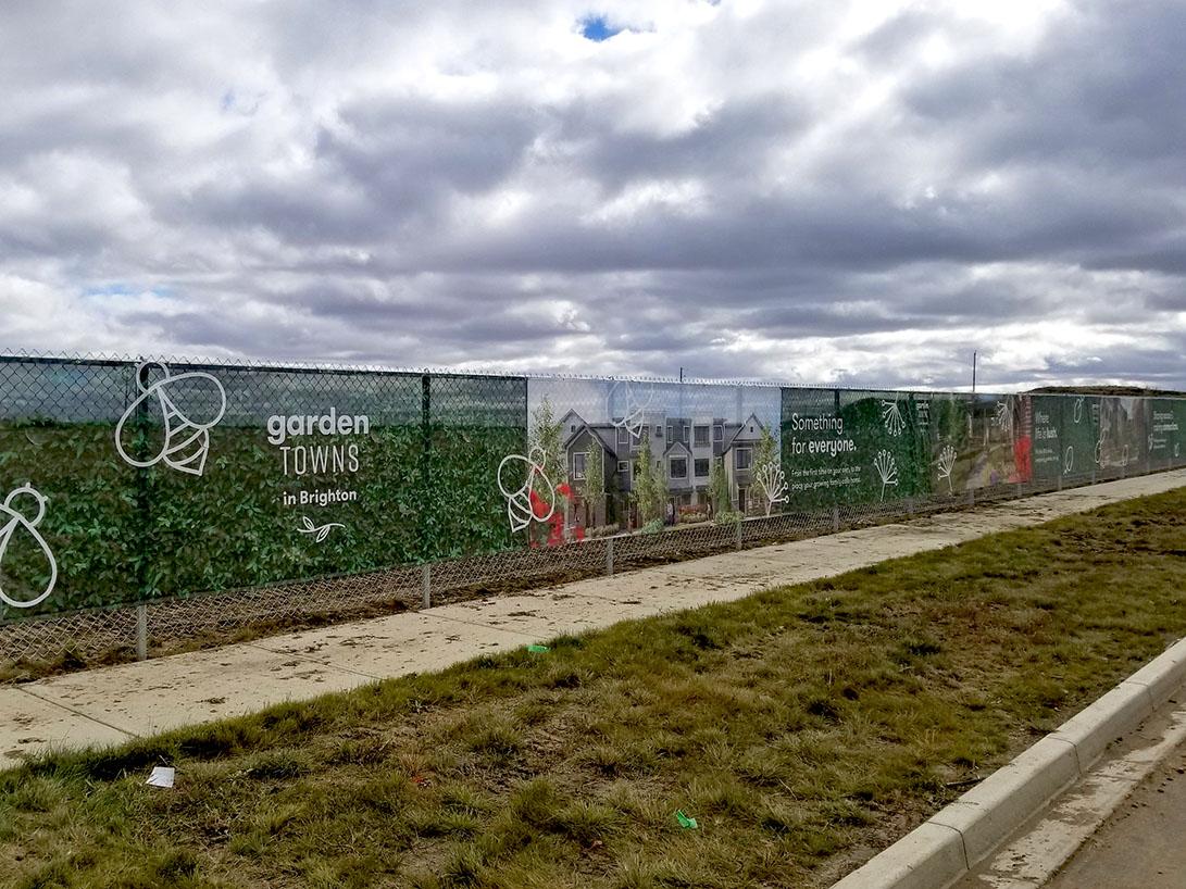 Homes by Dream, Brighton, Saskatoon - Mesh Fence Banner