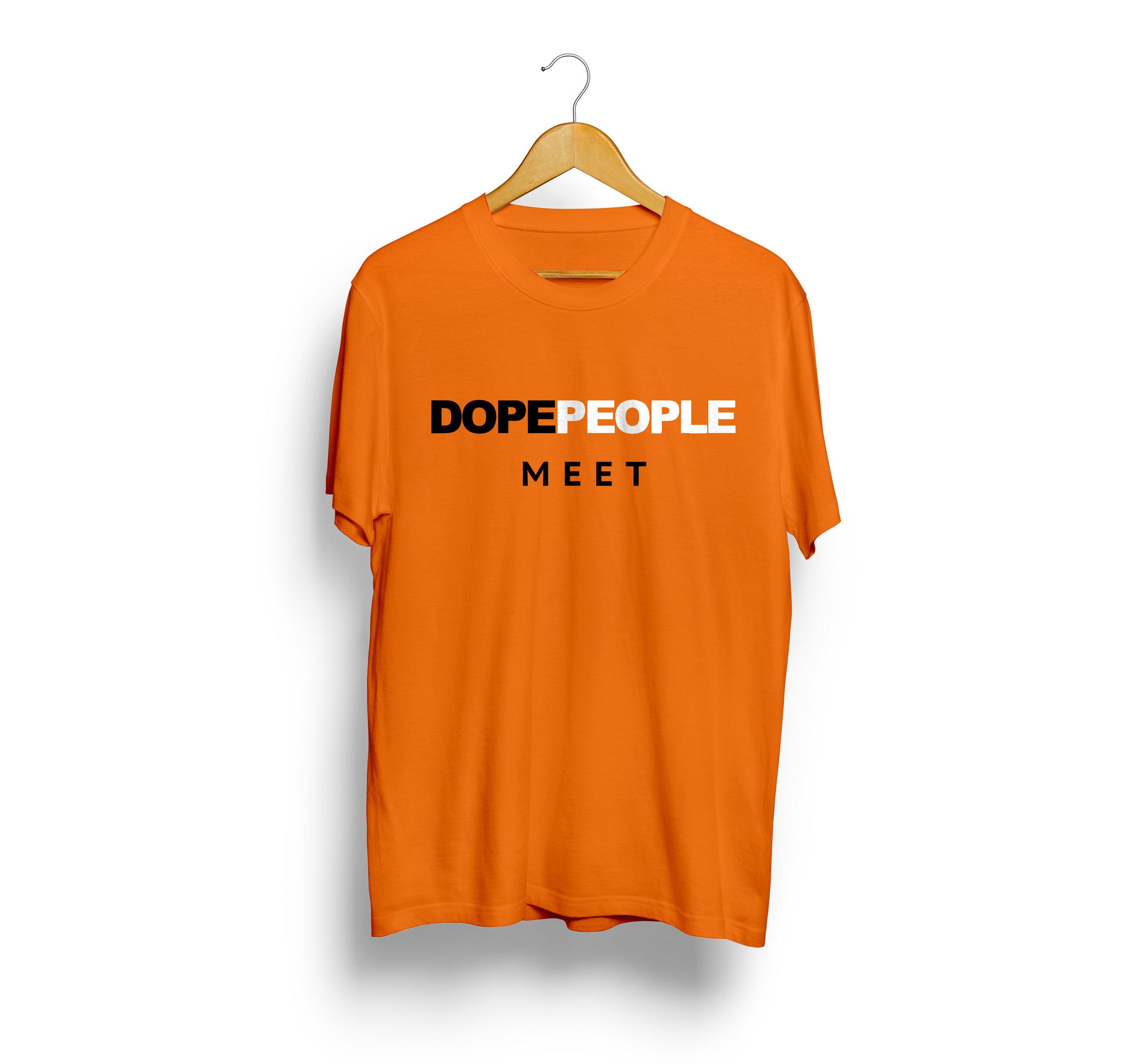 Official Dope People Meet Tangerine Tee  $25