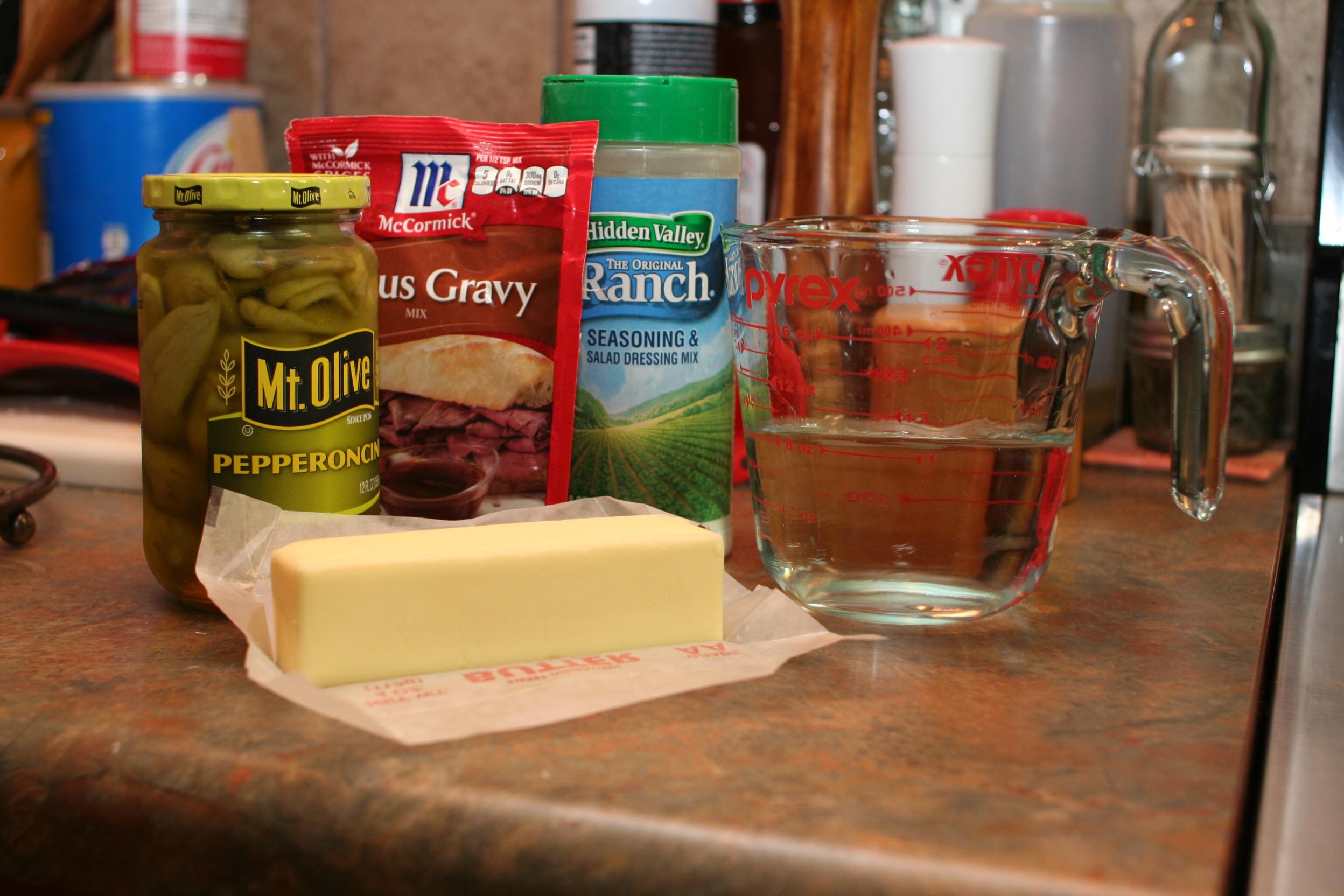 Mississippi Roast Ingredients