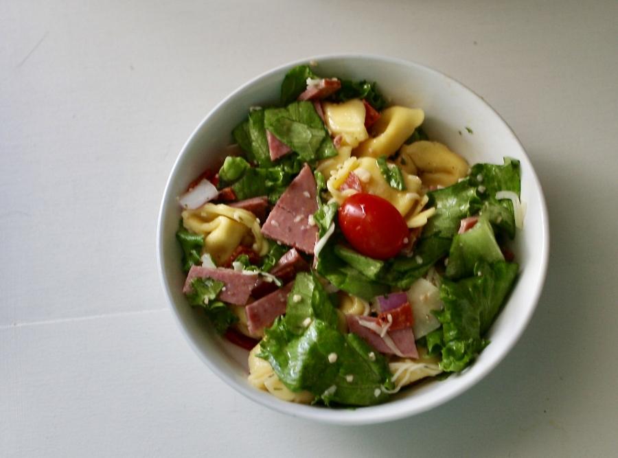 Italian Tortellini Salad. Almost too pretty to eat.