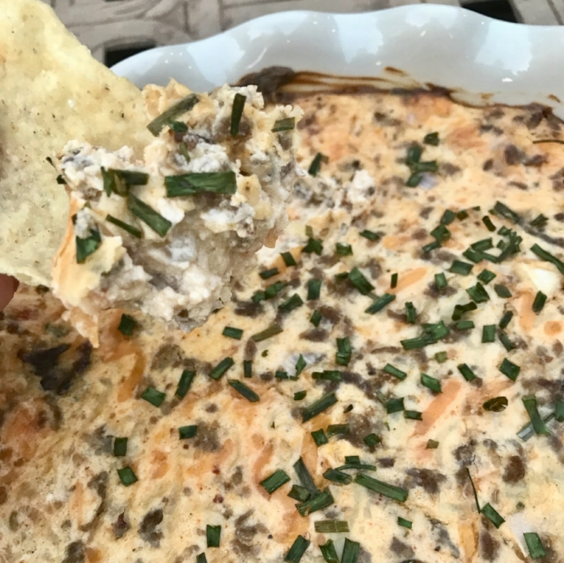 The Buttered Home's Best Tailgate Sausage Dip