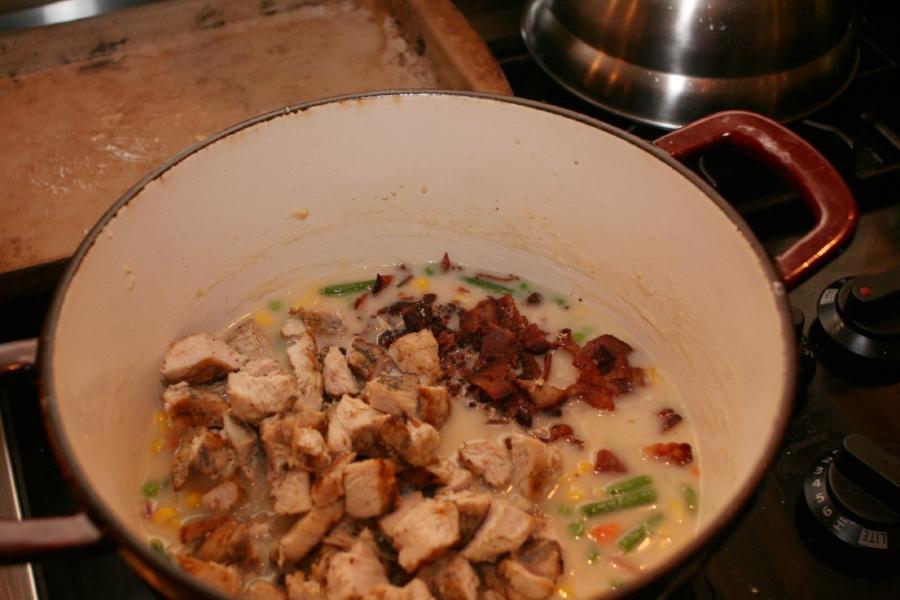 Chicken, Bacon, Corn Chowder