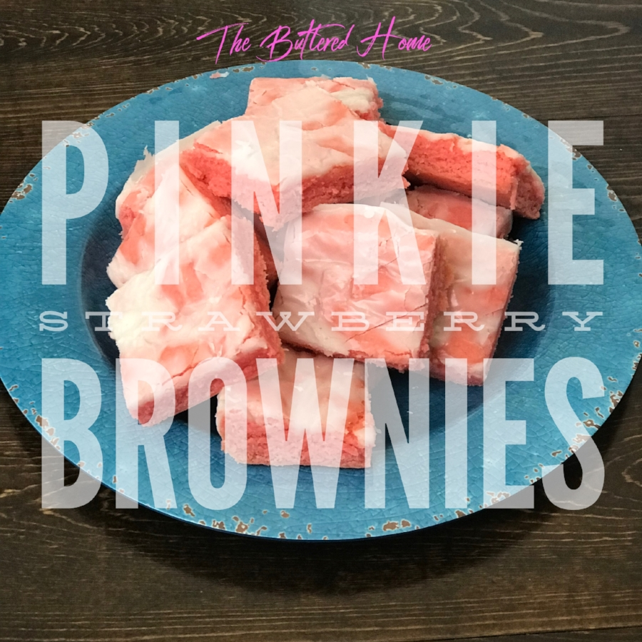 Pinkie Strawberry Brownies