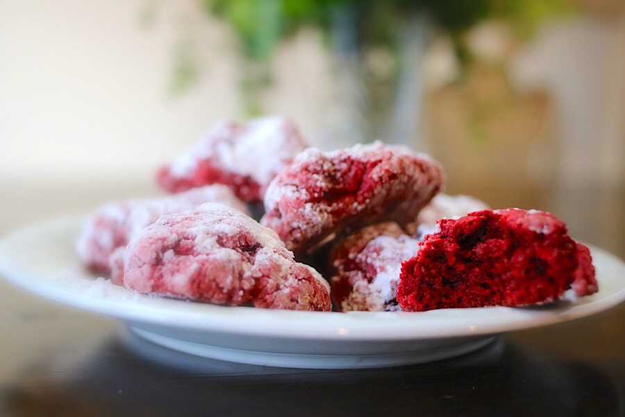 Red Velvet Cake Mix Cookies