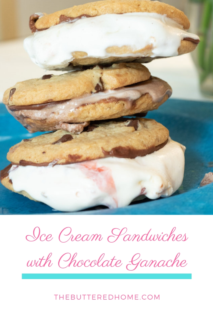 Ice Cream Sandwiches with Chocolate Ganache take an ordinary serving of ice cream and dress it up to party! Sweet and crispy chocolate ganache makes this party time dessert and dresses it up with superb sweetness!