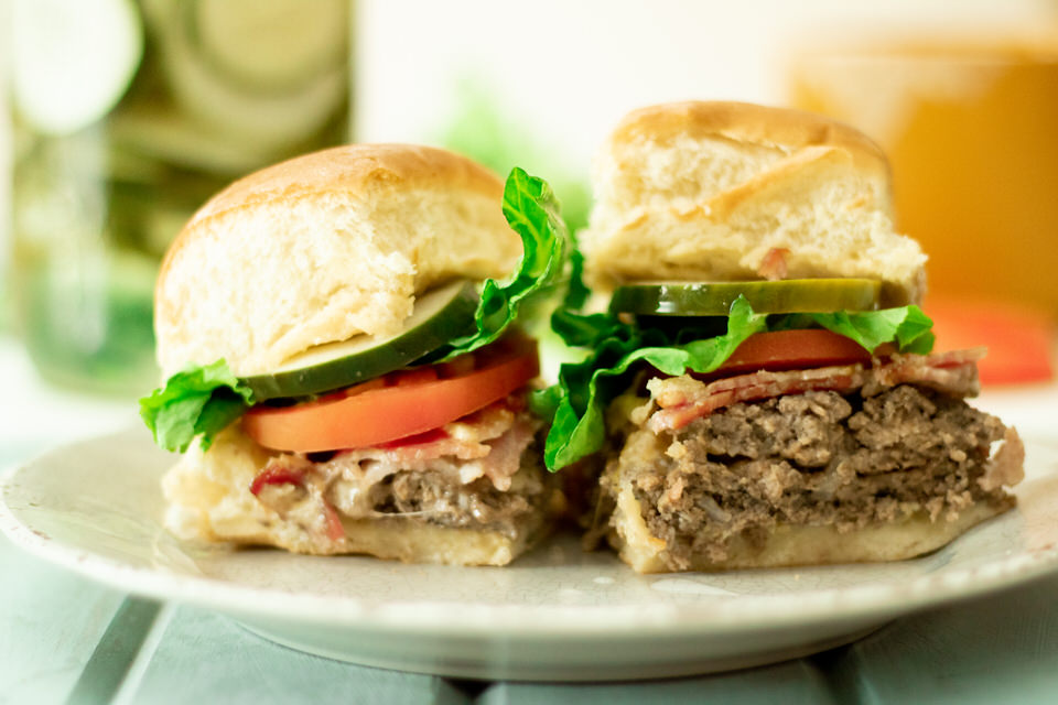 Sheet Pan Bacon Cheeseburger Sliders