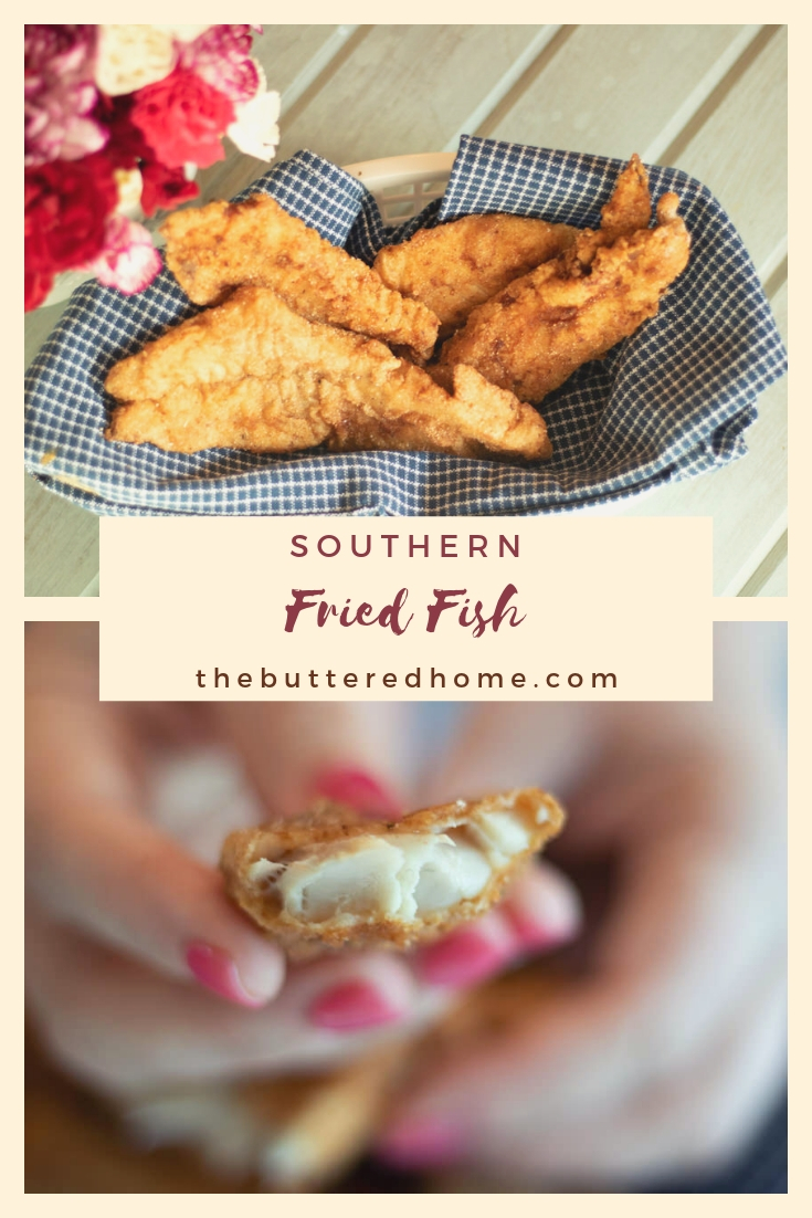 Southern Fried Fish. A delight to the old taste buds and an even bigger delight to the cook! So easy to make, you can have a summer fish fry in your kitchen anytime you fancy. Notes of Old Bay seasoning and a simple batter make this fish, the dish!