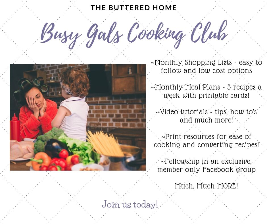 The Busy Gals Cooking Club - Join today for Recipes, Fellowship, tips and tricks and much more!