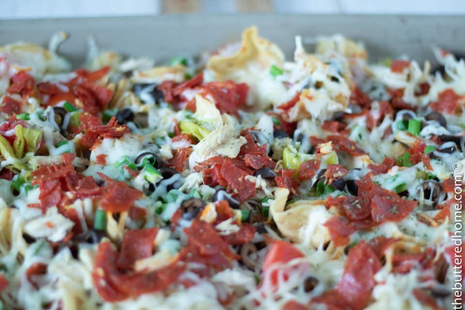 Italian Nachos made in the Oven