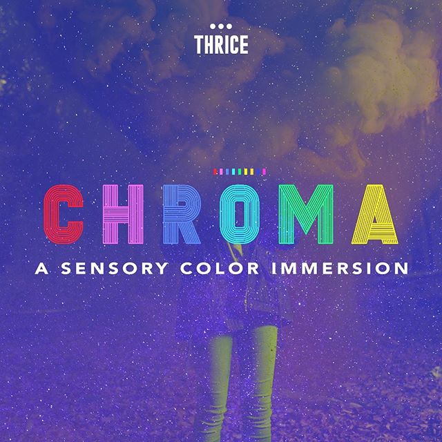 Thrice presents: CHROMA, an immersive, sensory color-by-course experience exploring color through the five senses. In partnership with @uchidenver Thrice will debut CHROMA on May 29 in the Uchi Event space, located in the @liveatspark  S*Park, Sustainability Park development in RiNo. There are three parts to CHROMA: two culinary journeys: May 29 and June 5 , two Mixology experiences: May 31 and June 1 and Chakra Yoga: June 2 Tickets go on sale today.  Visit Thricepopup.com  to learn more. Limited availability, it is only here for a short time so get your tickets today! (link in bio) Proceeds benefit the @RiNo artdistrict #chroma #popuprestaurant #immersiveart #immersiveexperience #colorbycourse #colorimmersion