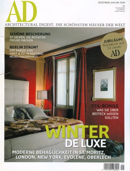 Architectural Digest - December / January 2008