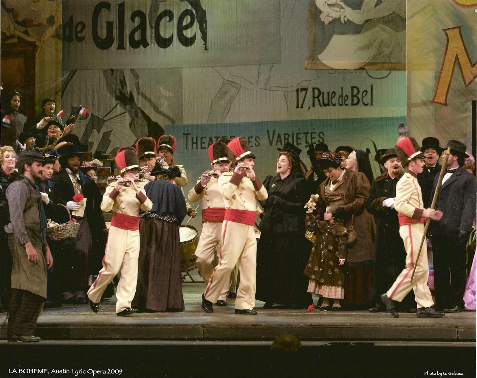 Scene from Act II of Austin Lyric Opera's 2009 Production of La Boheme