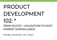 Product Development 102 is a continuation of the 101 course and will take you through the back end of development.