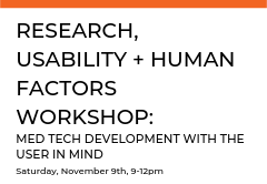 In this workshop, learn how to apply human centered specifications and usability research to your product development process. Dive deeper to discover how this approach mitigates risks, drives down user error, supports verification and validation testing, and ensures continued product success following launch.
