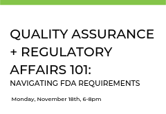 This class is designed to give you a comprehensive understanding of the regulatory environment, device classifications, and how to build regulatory requirements into your development strategy.