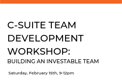 This dynamic and active participation workshop will give participants the tools they need to evaluate and build their team into a Med Tech venture that investors will not only fund, but also have confidence in to do the job.