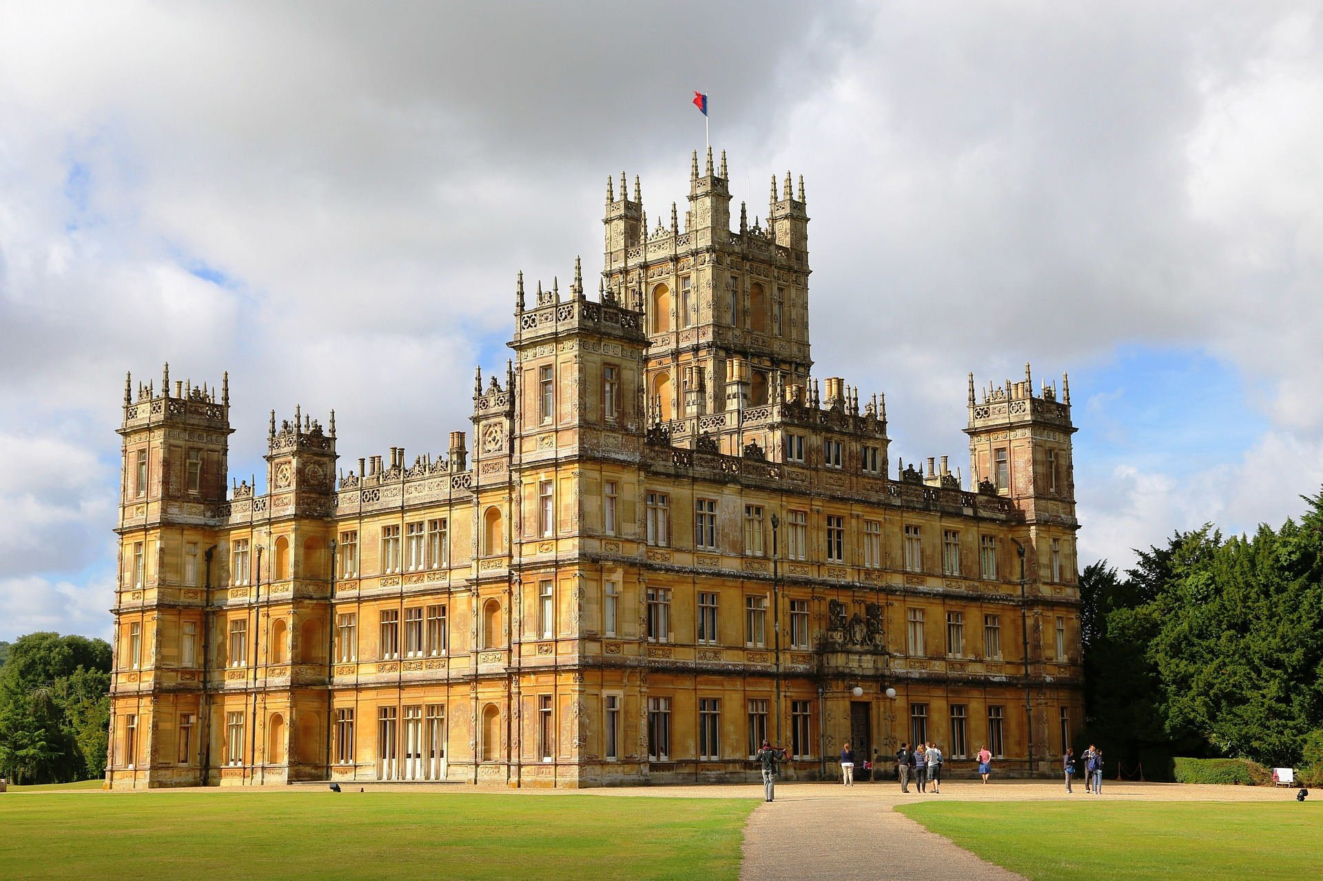 Famous Highclere castle, filming location for the popular PBS series, Downton Abbey.