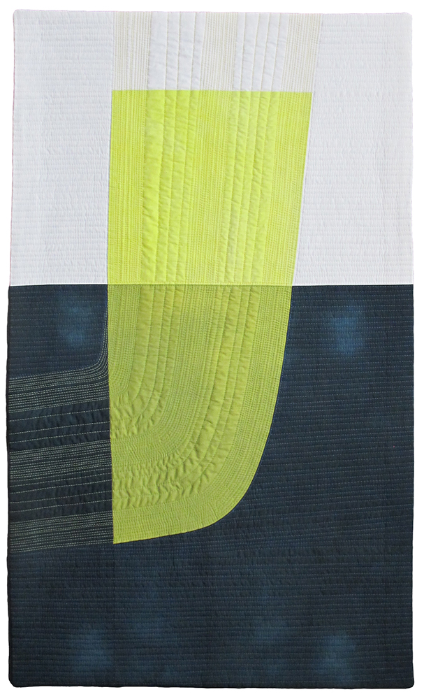 Berg #2, pieced hand-dyed cotton,