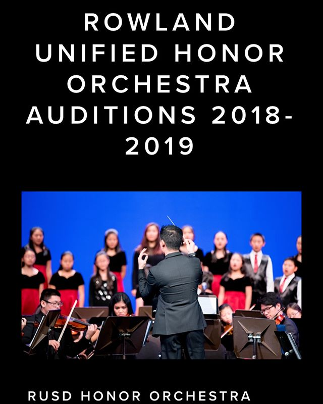 Today and tomorrow, from 4:30-7:00! Auditions for Honor Orchestra