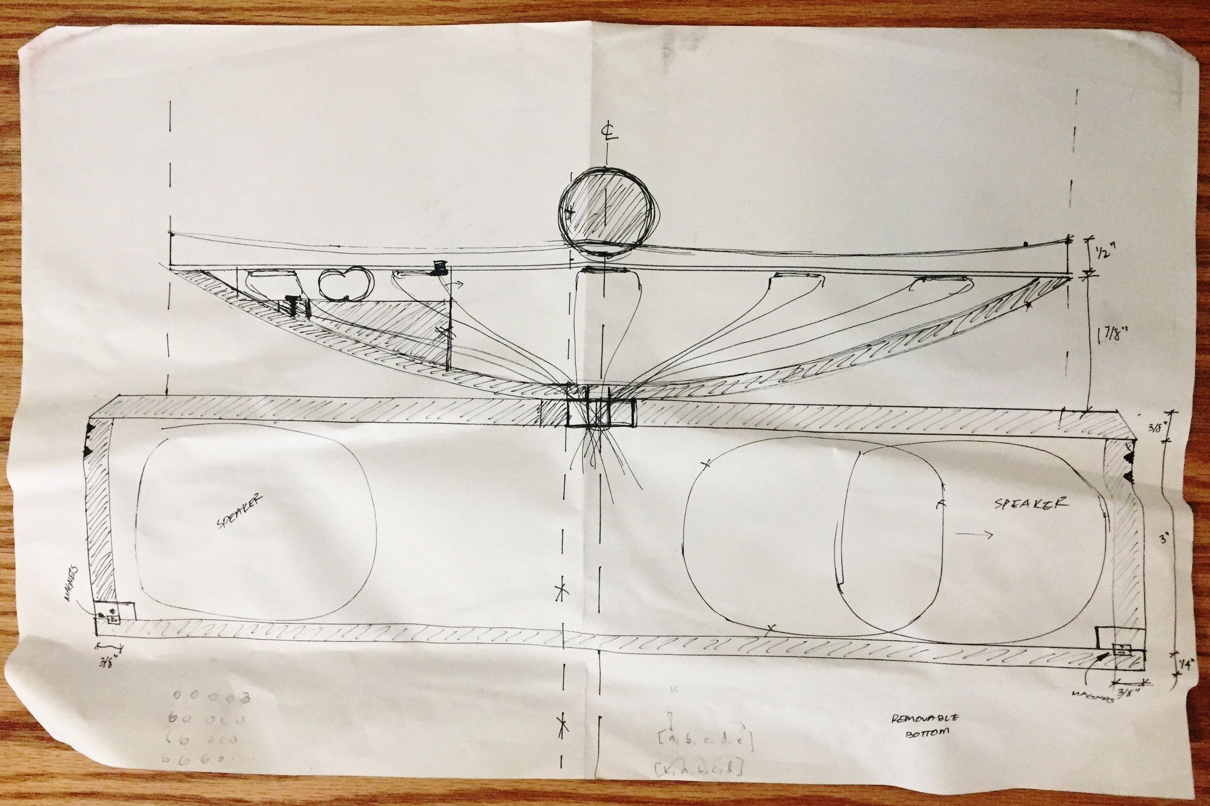 Initial plans for the final design