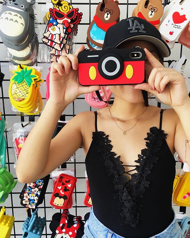 Capturing every moment with our Mickey camera case!