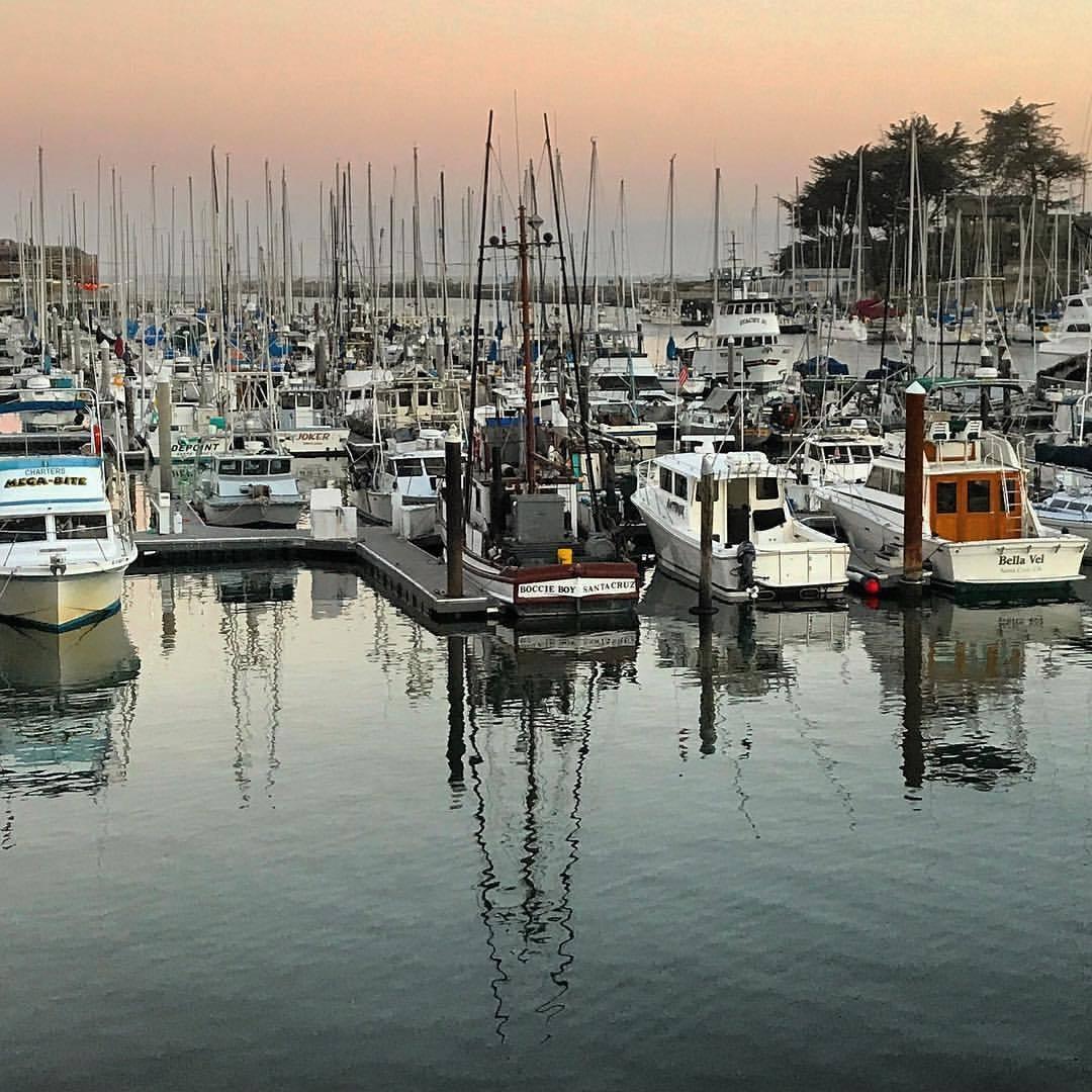 Last light over the marina.  -  #california #santacruz #summerontheboardwalk    (at Santa Cruz Harbor)