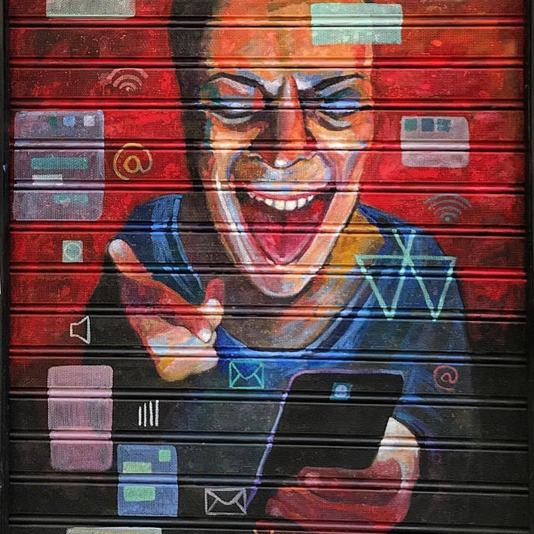 Graffiti.  -  #spain #madrid #streetart #techmadness  (at Madrid, Spain)