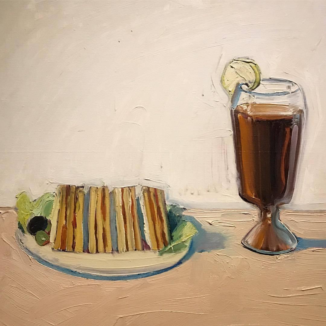 Iced Tea (1961)  Wayne Thiebaut   -  #art #californiaartist #iwouldvenameditclub (at Jan Shrem and Maria Manetti Shrem Museum of Art at UC Davis)