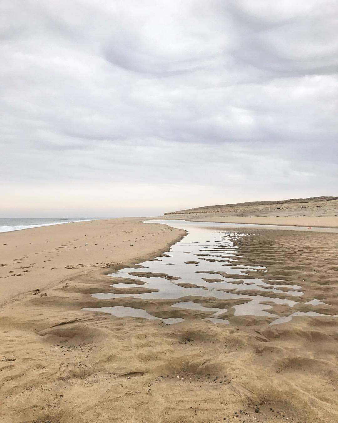 Sandbar reveal.  -  #massachusetts #capecod #provincetown #beachcombing  (at Race Point Beach)
