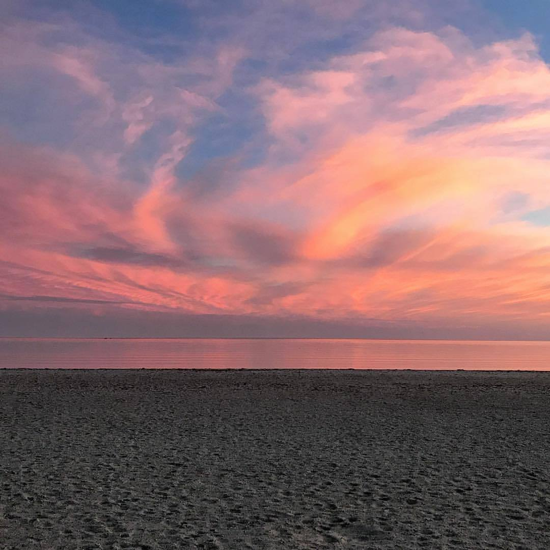 """""""How strange this fear of death is! We are never frightened at a sunset.""""  -Scottish author George MacDonald (1824-1905)  -  #massachusetts #capecod #awaitingtheangels      (at Craigville Beach Town of Barnstable)"""
