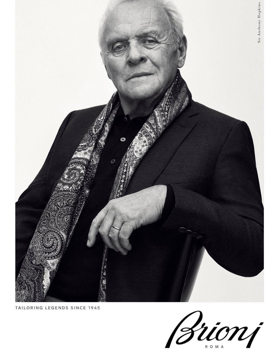 HOT campaign.  -  #anthonyhopkins #brioni #mendressingwell