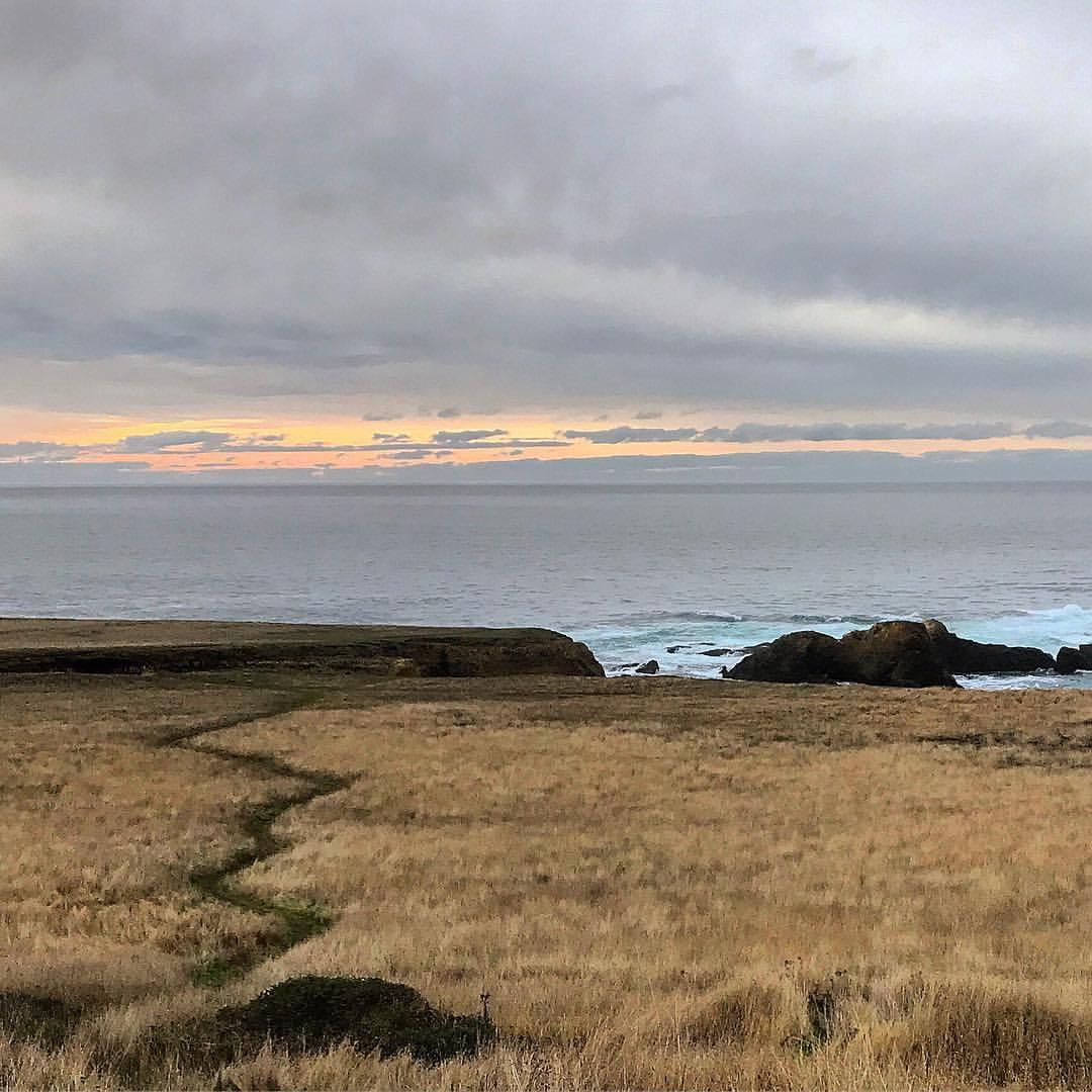 The path is never linear.  -  #california #ilocecalifornia #roadahead  (at Mendocino Coast)