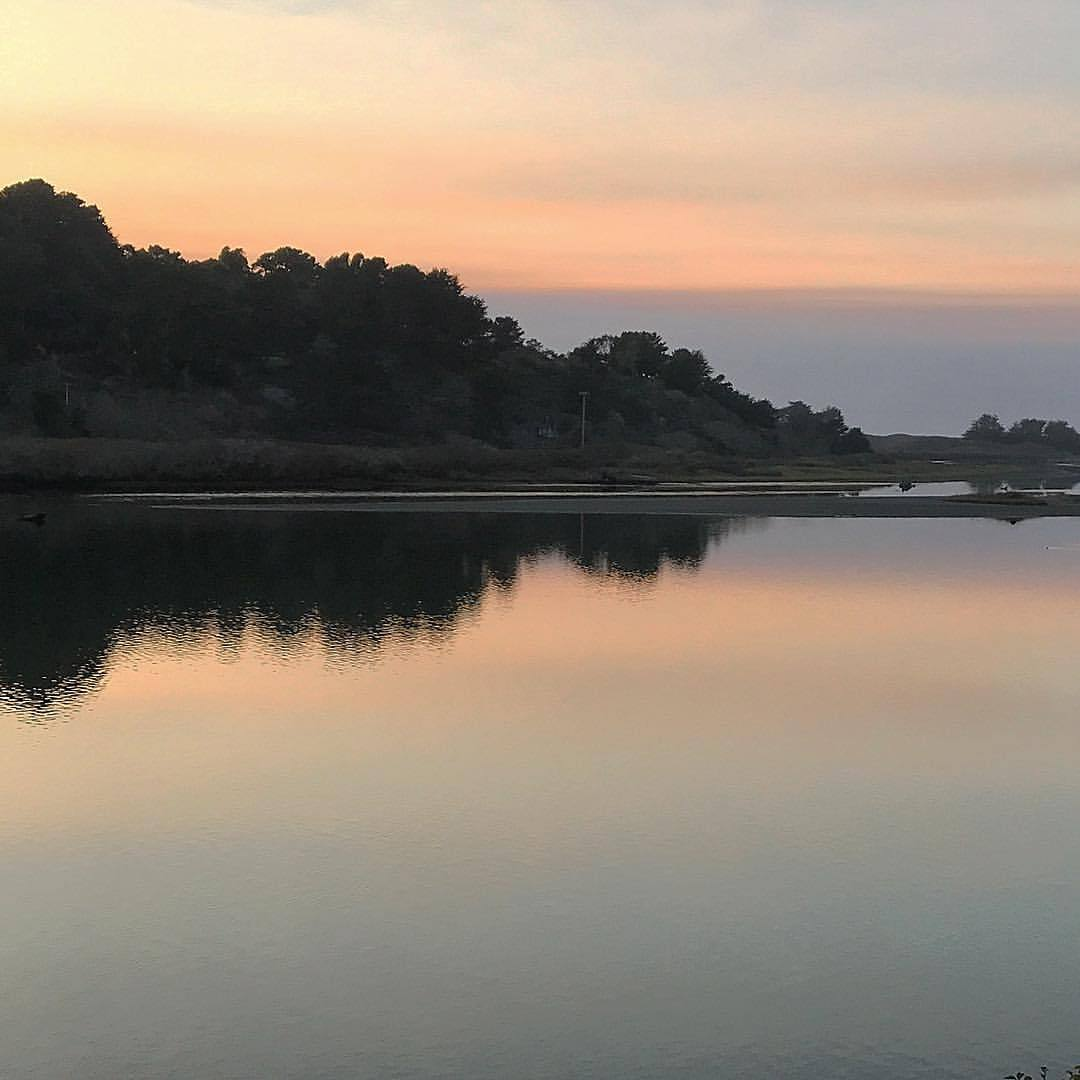Dusk.  -  #california #ilovecalifornia #sonoma #sunset  (at Jenner, California)