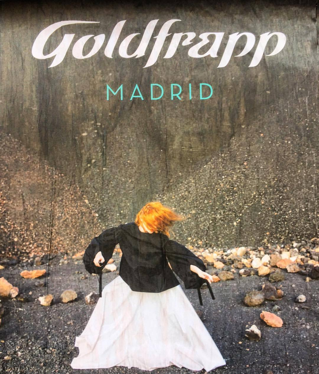 English electronic music in flamenco country.  #spain #madrid #streetart #goldfrapp  (at Puerta del Sol Madrid)