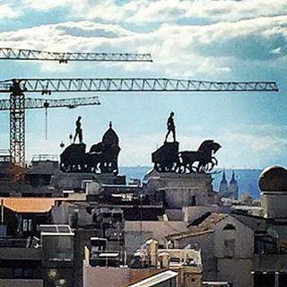 Skyline.  #spain #madrid #rooftop #oldvsnew  (at Madrid, Spain)