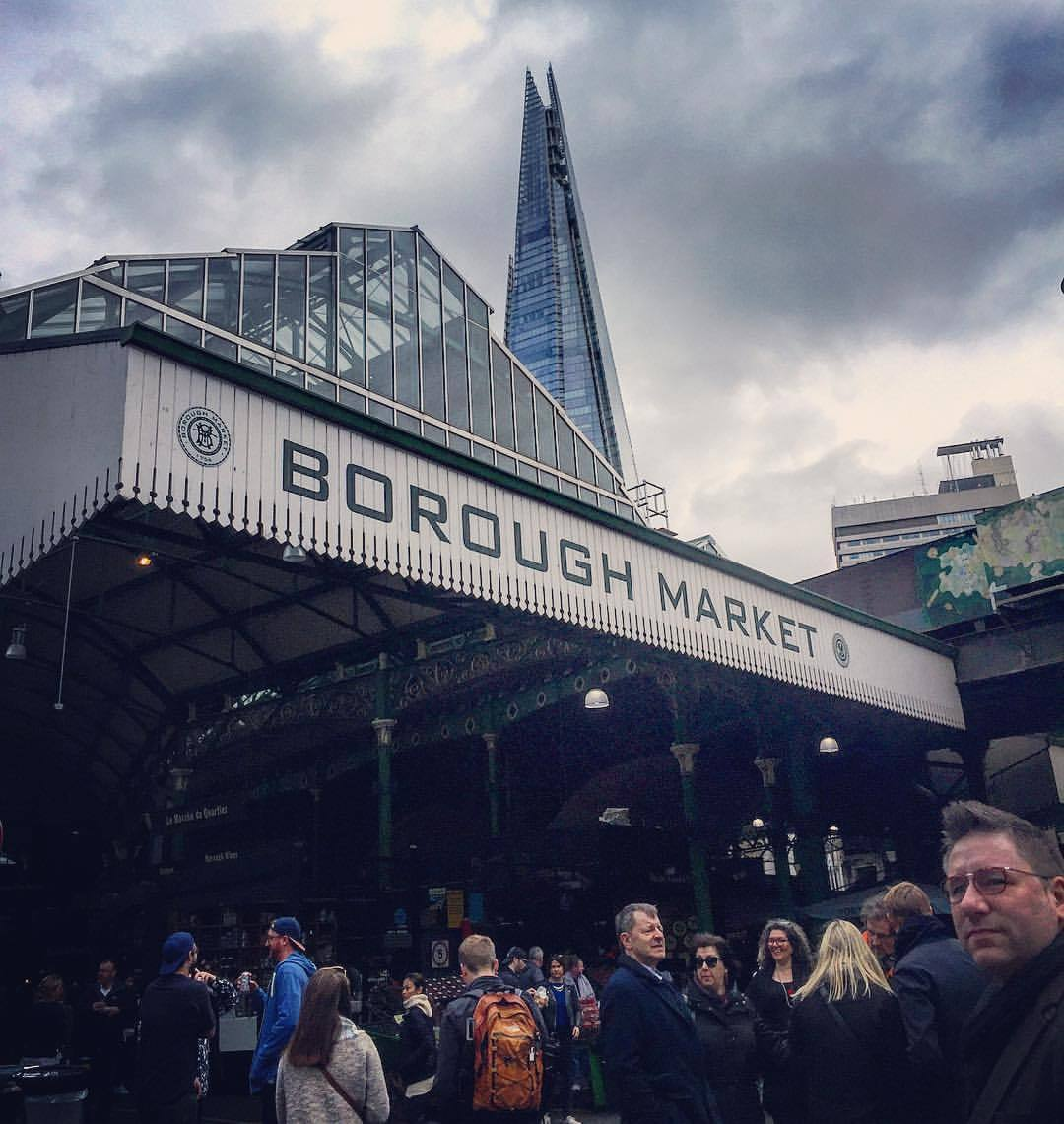 Shopping for dinner on a gray Saturday afternoon, alongside a million other jostling souls.  #england #london #boroughmarket  (at Borough Market)