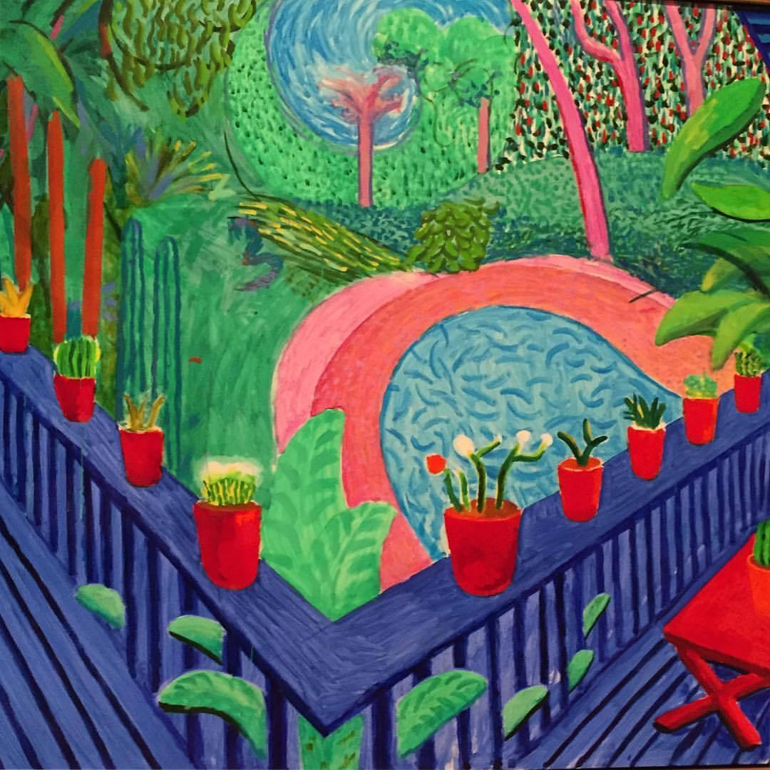 Red Pots in the Garden  2000  David Hockney   #england #art #davidhockney #tatemuseum  (at Tate Museum)