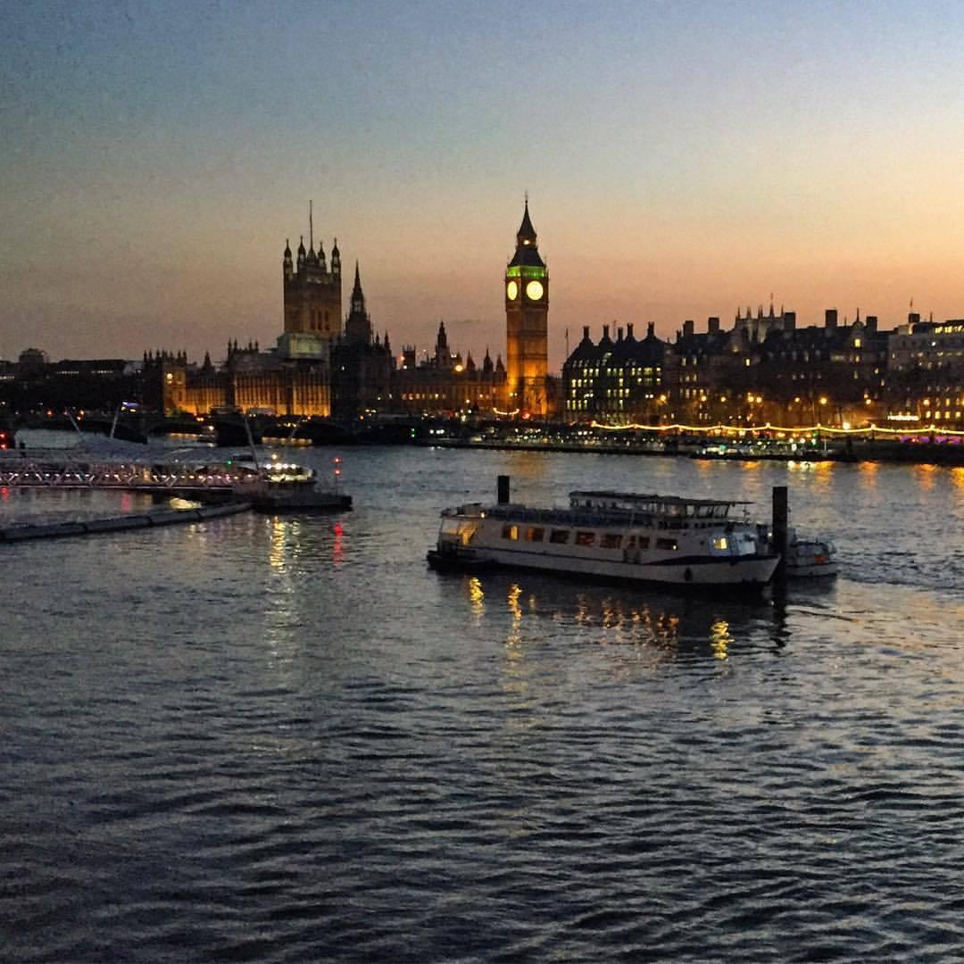 River Thames at dusk. (at London, United Kingdom)