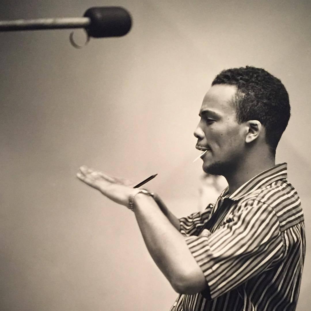 Quincy Jones captured by jazz portraitist Herman Leonard (1955).  #americanart #jazz #photography #blackandwhitephotography  (at Smithsonian American Art Museum and the Renwick Gallery)